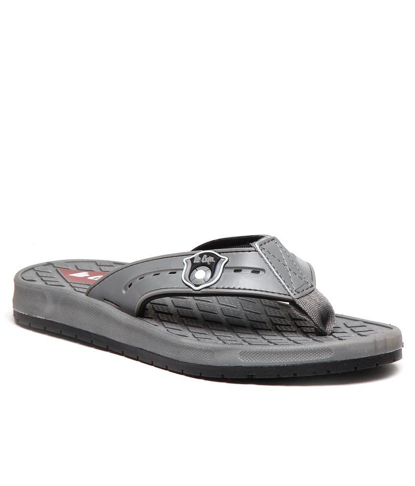 a9c995f929dc6 Lee Cooper Funky Gray Toning Flip flops Price in India- Buy Lee Cooper  Funky Gray Toning Flip flops Online at Snapdeal