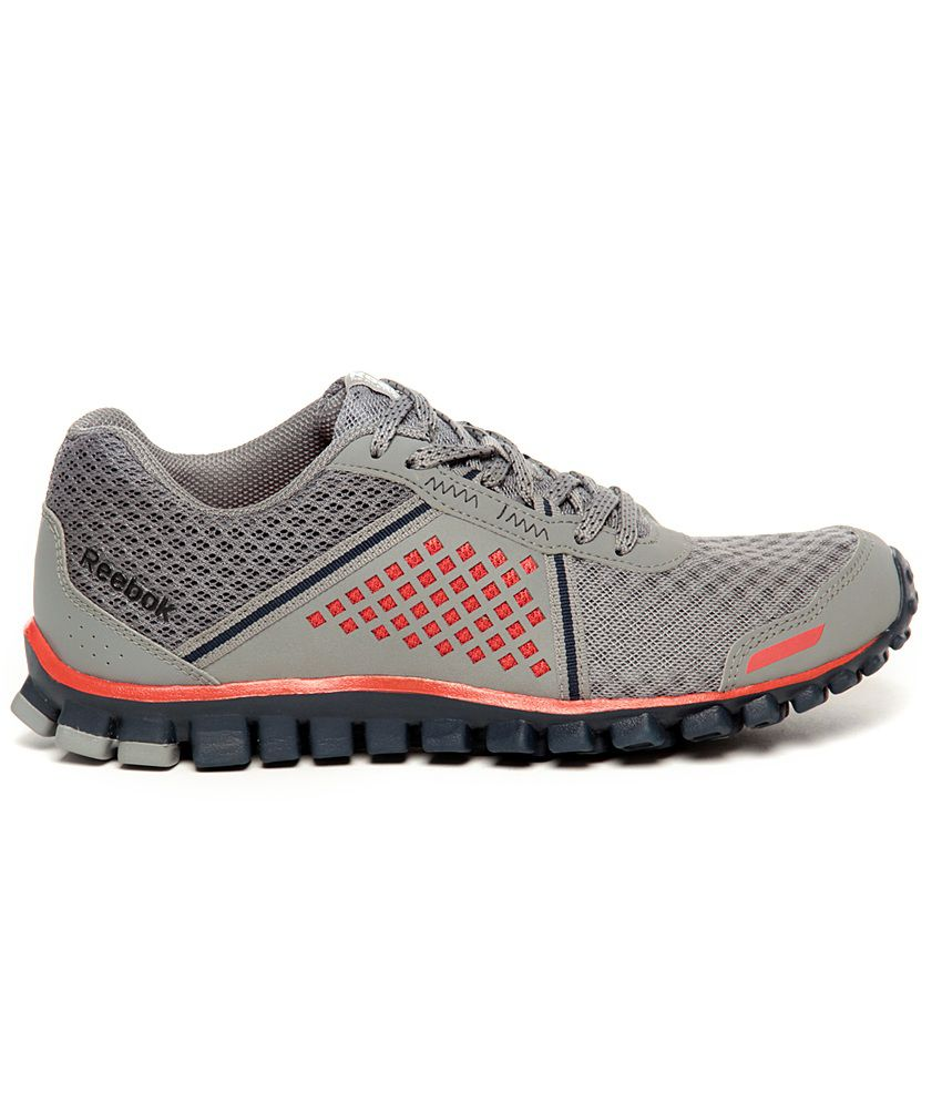 buy popular bde29 c1ddc ... Reebok RealFlex Scream 4.0 Grey   Red Running Shoes ...