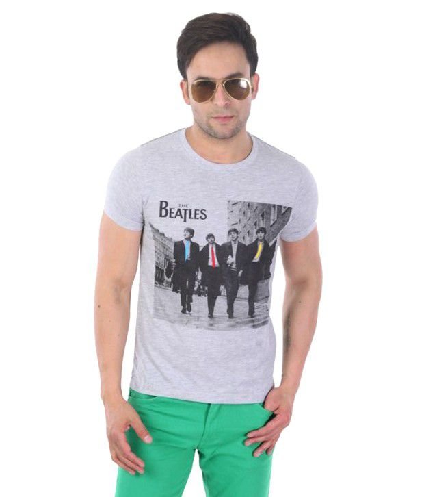 Sportking Gray Beatles Printed T Shirt