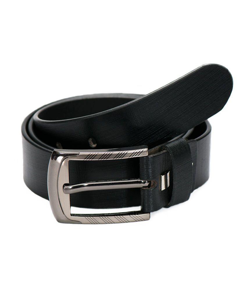 Vermello Black Classy Belt