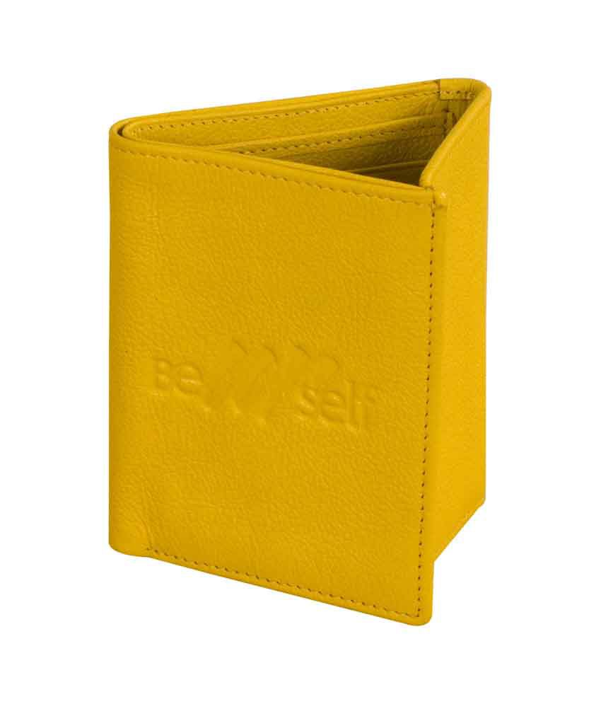 eZeeBags Trifold Wallet Yellow
