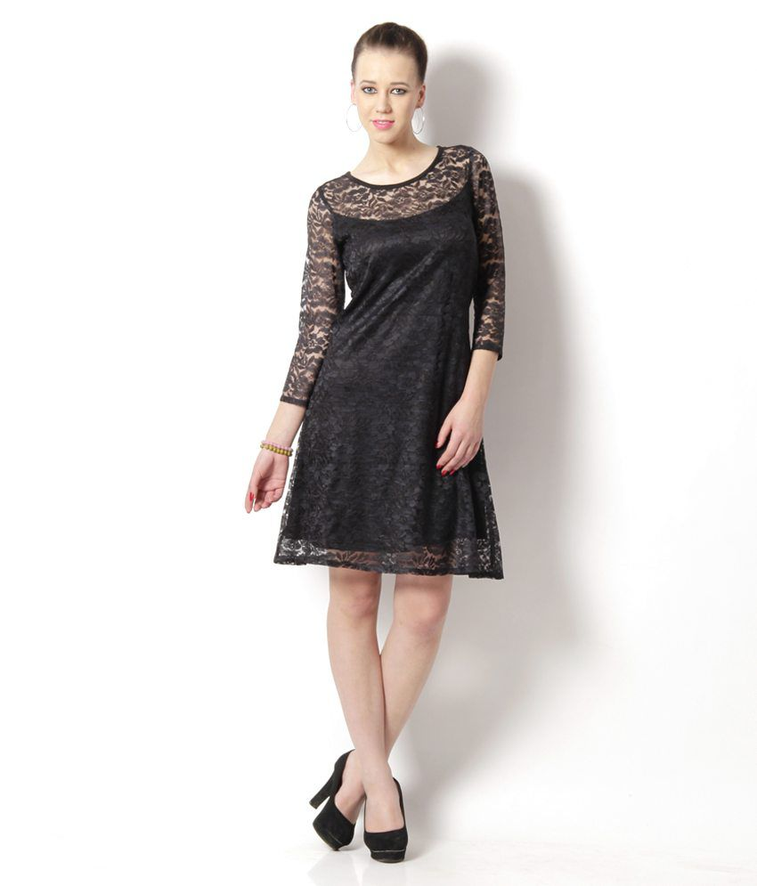 Buy At499 Black Net Dresses Online at Best Prices in India ...