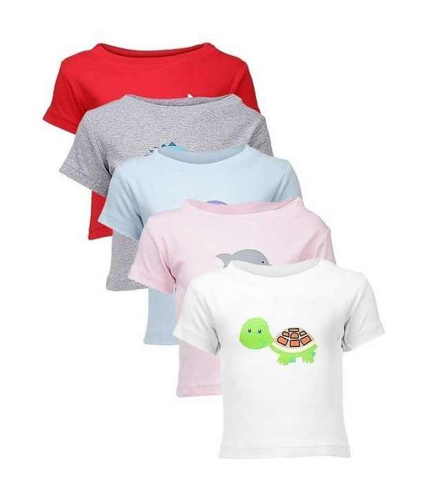Goodway Sea Themed Pack of 5 T-Shirts For Infants