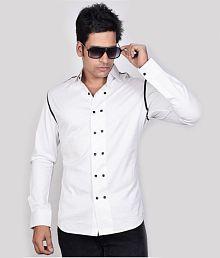 Dazzio White Stylish Shirt