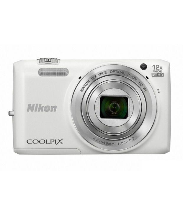 Nikon Coolpix S6800 16MP Digital Camera (White) Price in India- Buy ...