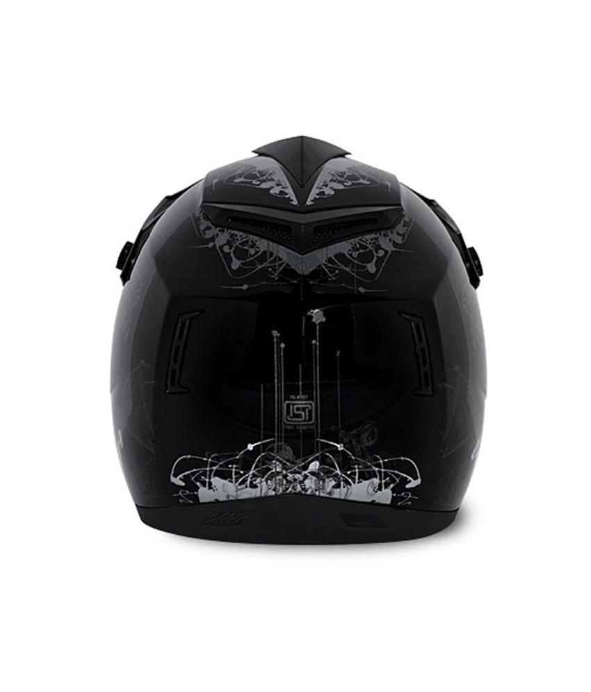 df98160f ... Vega Helmet - Off Road Sketched (Black Base With Silver Graphics) ...