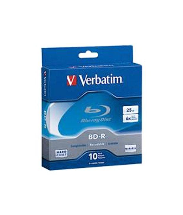 Verbatim 25GB 6X BD-R 5 Packs Spindle Disc