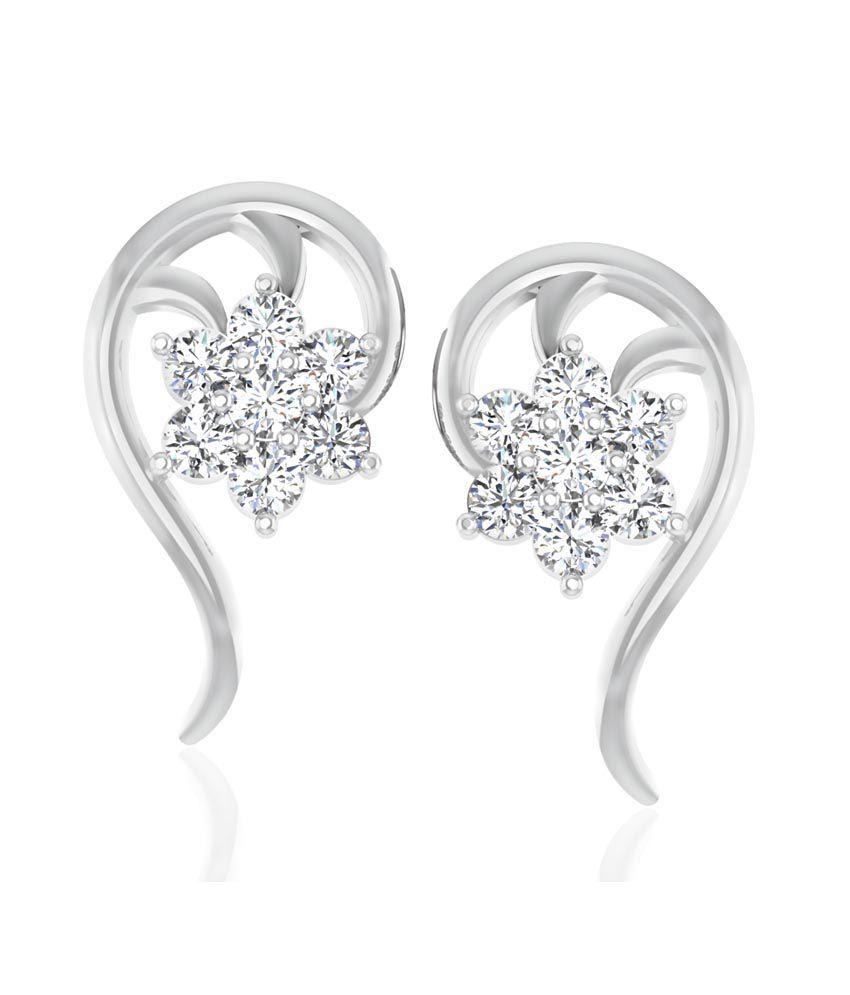 Forever Carat Real Diamond 925 Sterling Silver Simmy Earrings