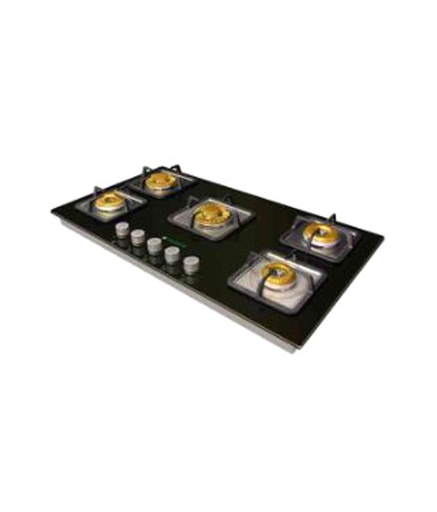 Faber Crystal 90 SP-HGG 905 CRS BR C I Built In Hob Gas Cooktop (5 Burner)