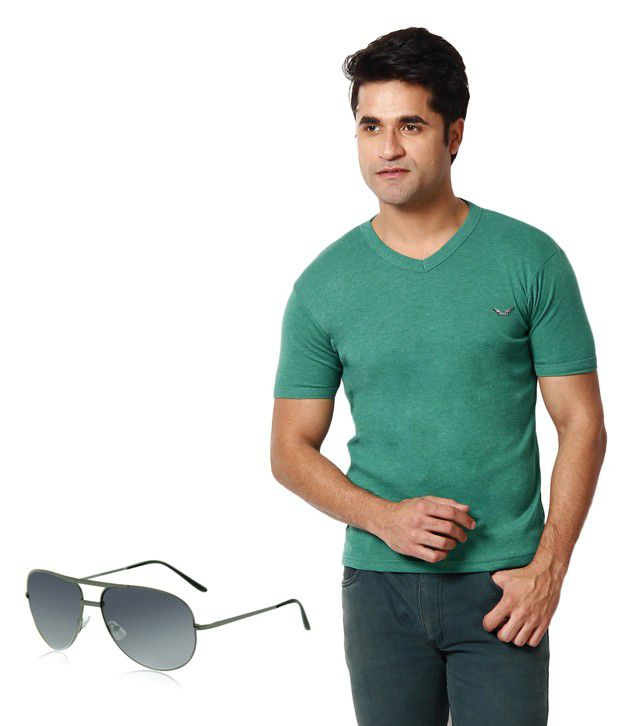 Zion Smart Green T ShirtWith Free Sunglass