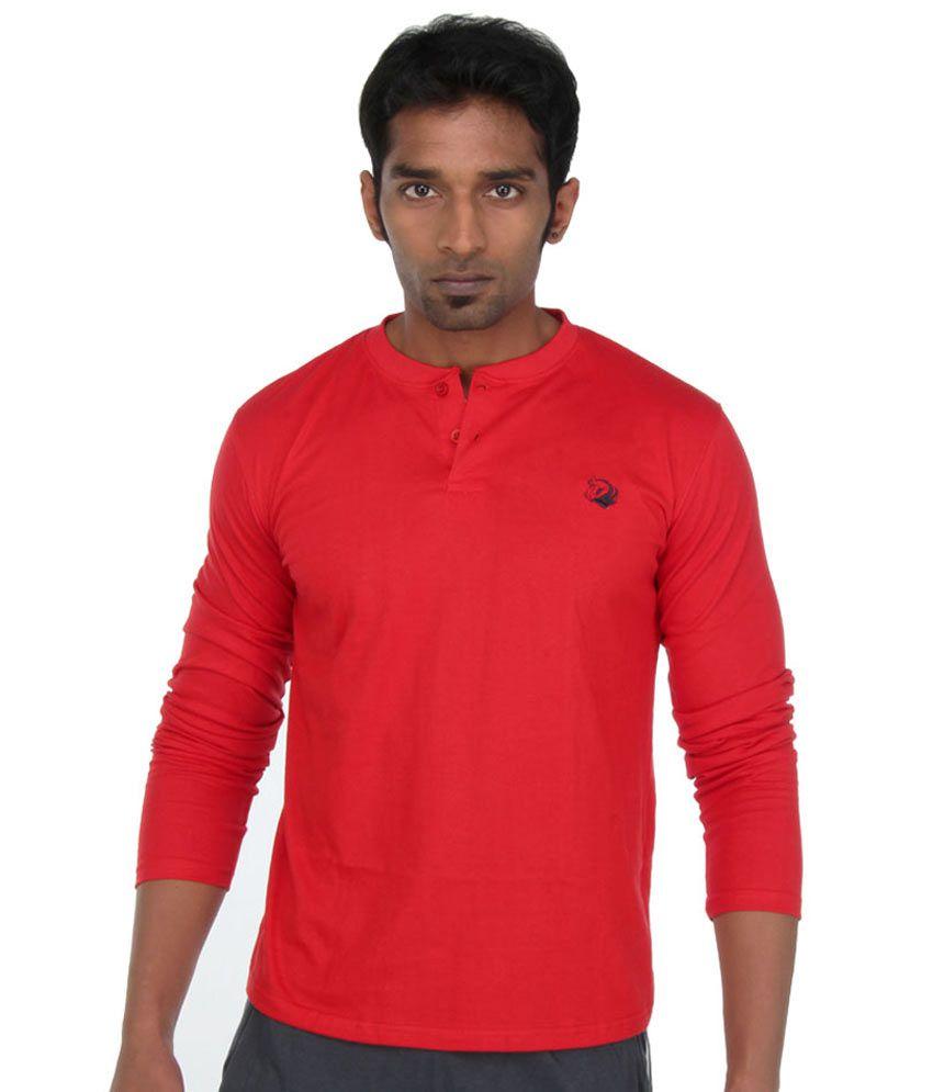 John Caballo Full Hand T Shirt (100% Cotton ) - Red