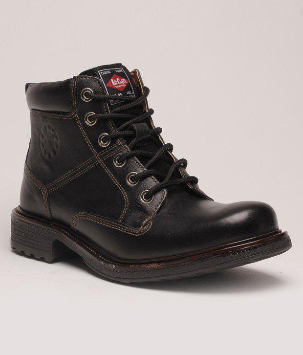 Lee Cooper Must Have Black High Ankle Length Boots Art BLC9578BLK