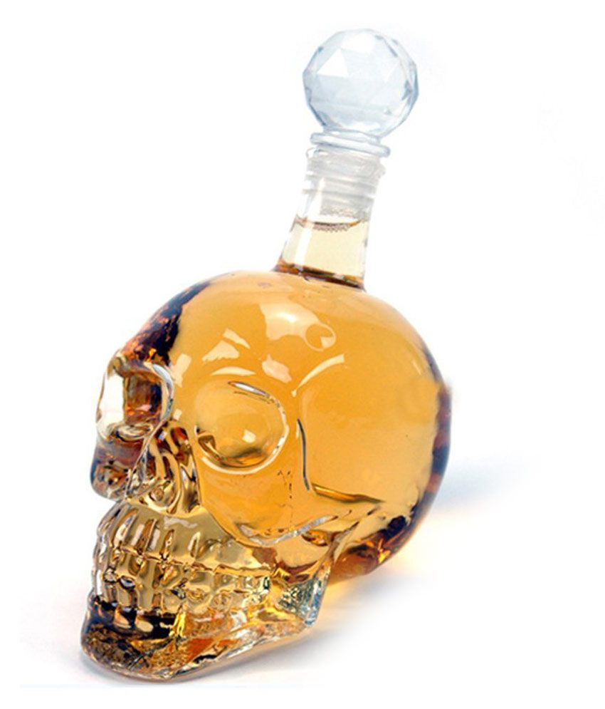 C Impex Skull Shaped Decanter