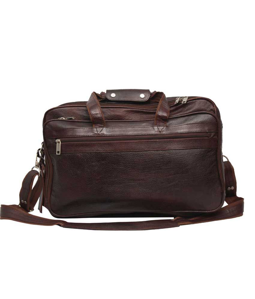 C Comfort Shoulder Brown Leather 17 inch Laptop Messenger Bags