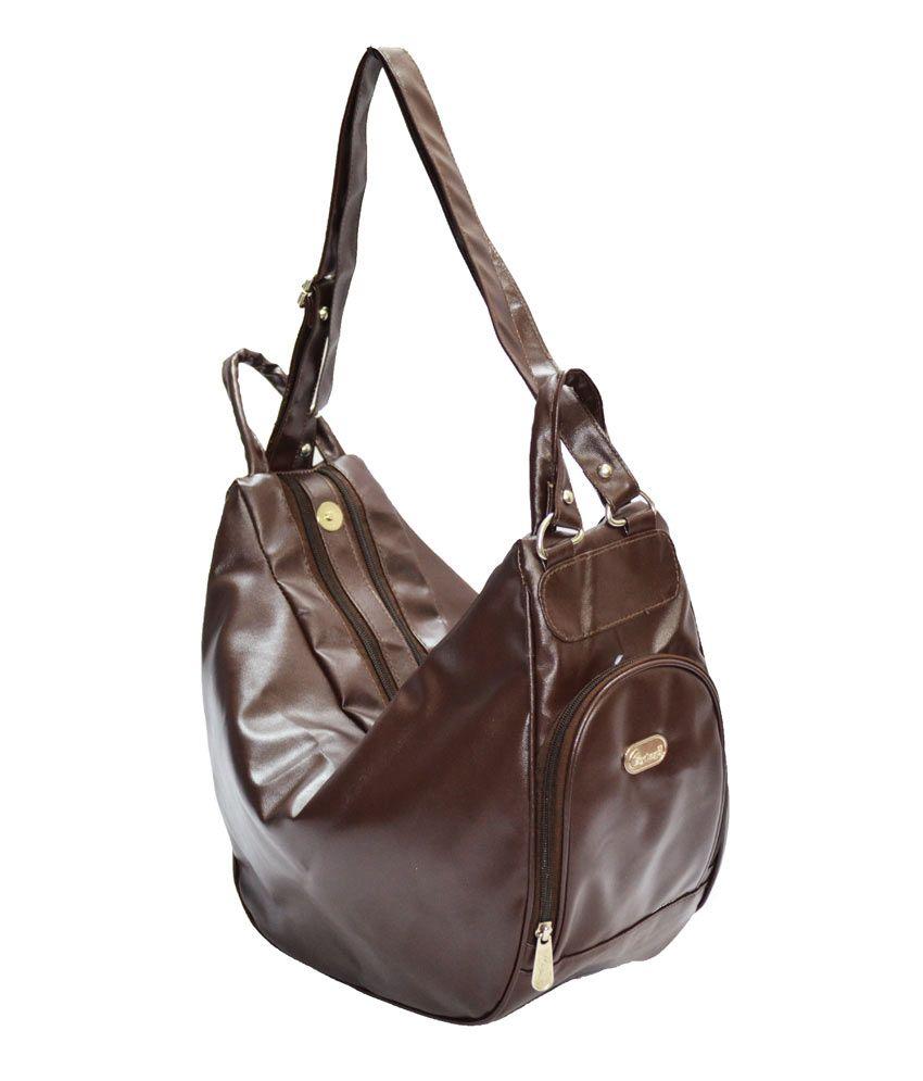 JGShoppe Three In One Shoulder Bag Brown
