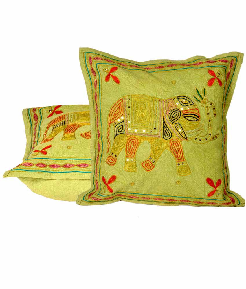 Jaipurraga fine zari embroidery cushion cover pc set