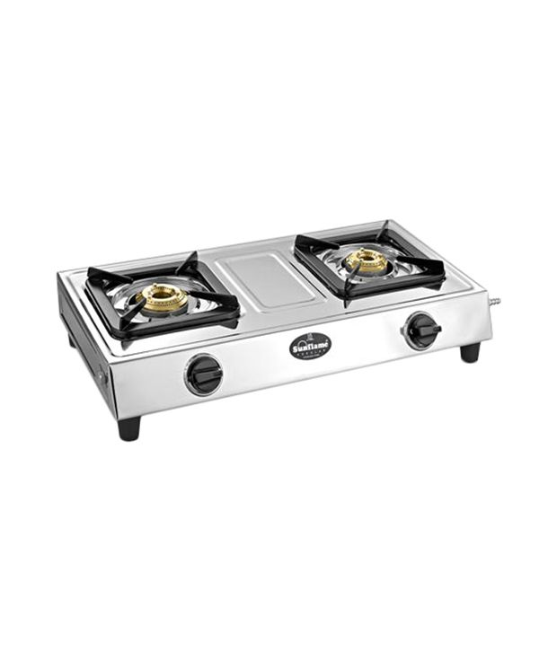 Sunflame Popular SS 2 Burner Gas Cooktop