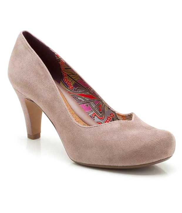 Clarks Elite Gray Medium Heel Suede Pumps