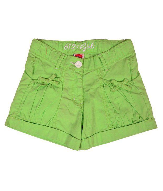 612Ivyleague Smart Parrot Green Shorts For Kids