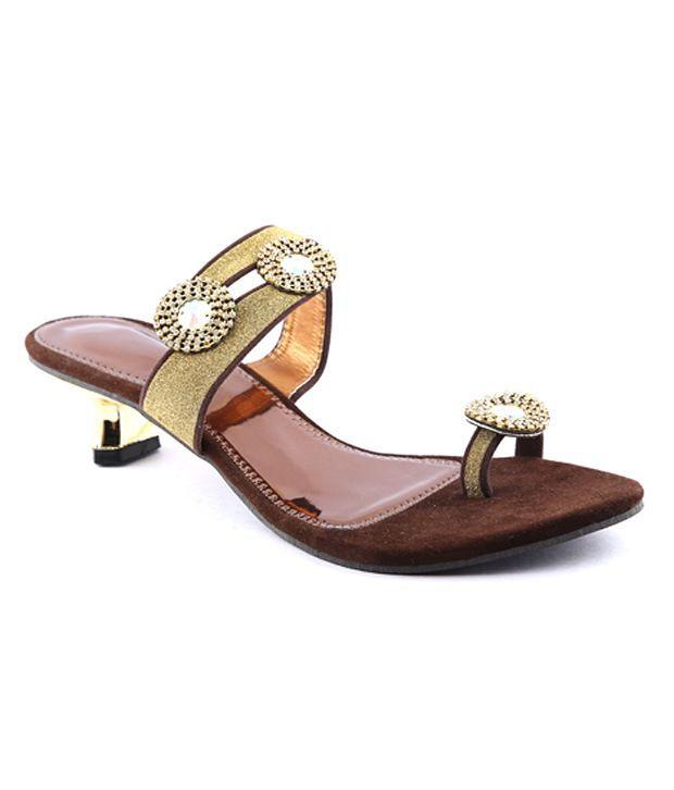 Cenizas Brown Antic Diamond Heels