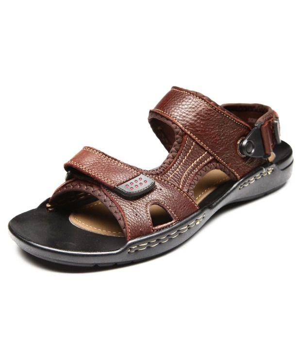 Pavers England Brown Pure Leather Men Casual Sandals