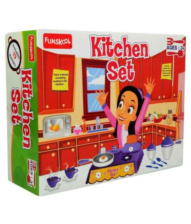 Kitchen Set Online: Funskool Kitchen Set- 19 Items