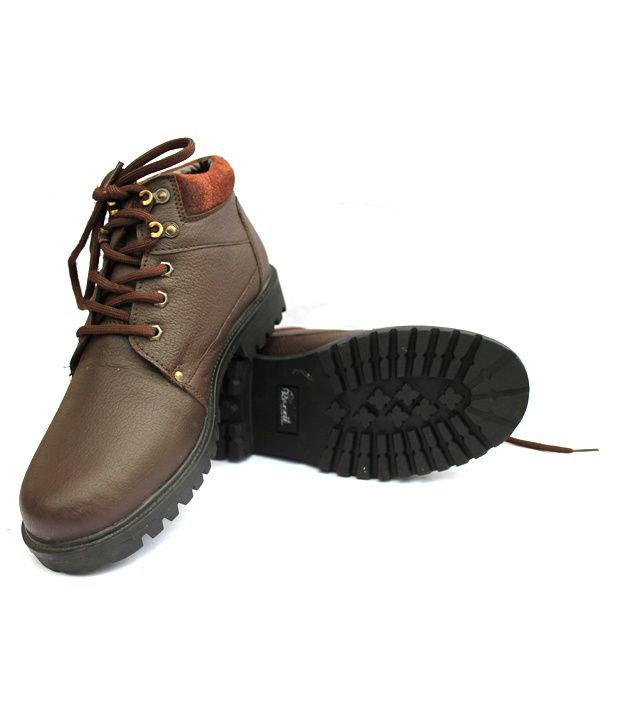 Roxxii Robust Brown Ankle-Length Boots