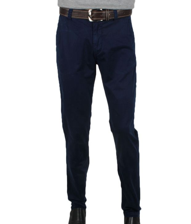 Uspa Classic Midnight Blue Trousers By Ritu Wears