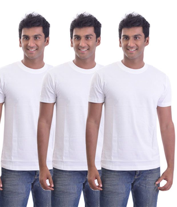 Stitche Trendy Round Neck  T-Shirts Pack Of 3