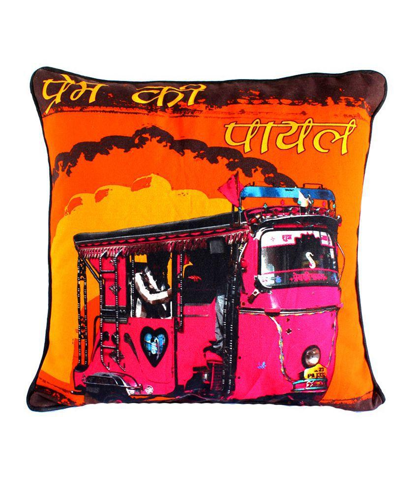 Craftstages Prem Ki Payal Multi-coloured Cushion Cover