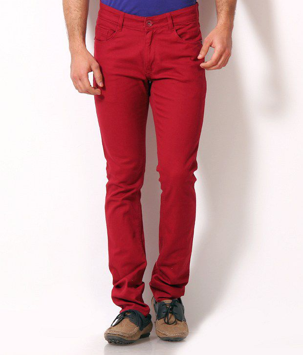 John Players Lurid Red Jeans