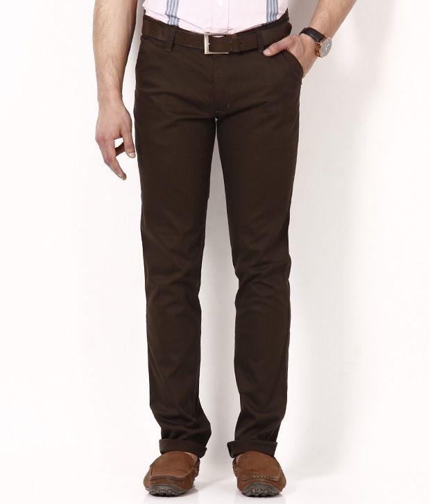 British Terminal Dark Brown Chinos