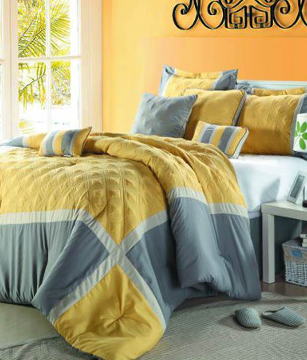 Chic Home Sadie Oversized 12-Piece Bed In A Bag King Yellow