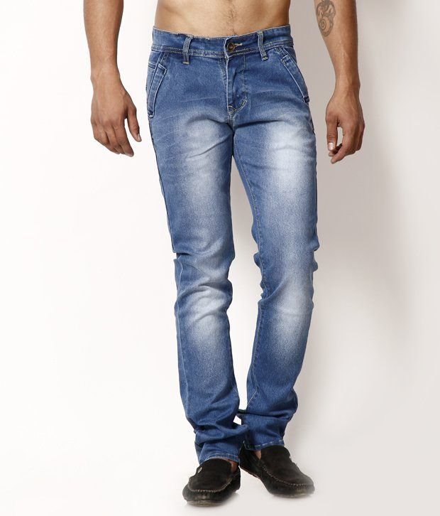 HDI Comfortable Light Blue Jeans with Free Belt