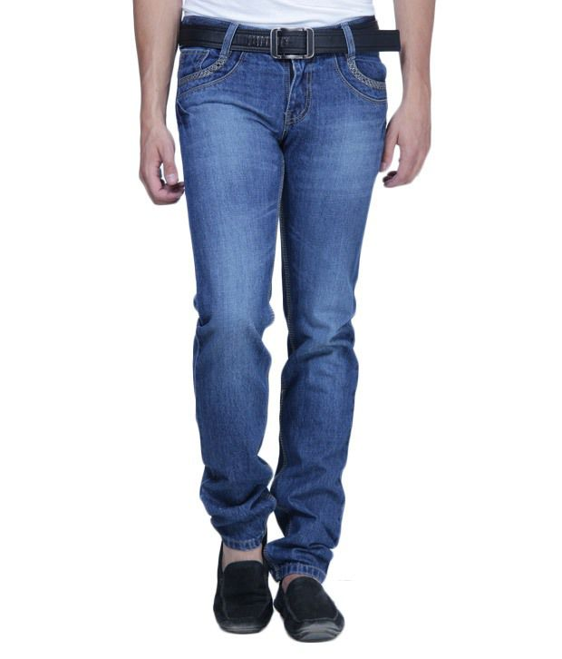 HDI In Vogue Blue Jeans with Free Belt