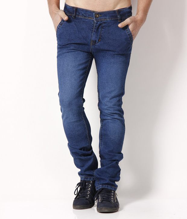 HDI Smart Blue Jeans with Free Wrist Watch