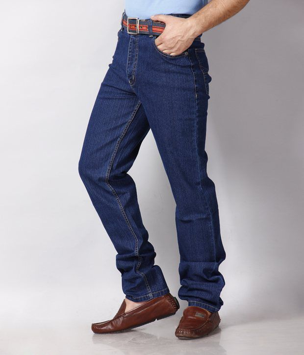 HDI Unique Blue Jeans with Free Wallet