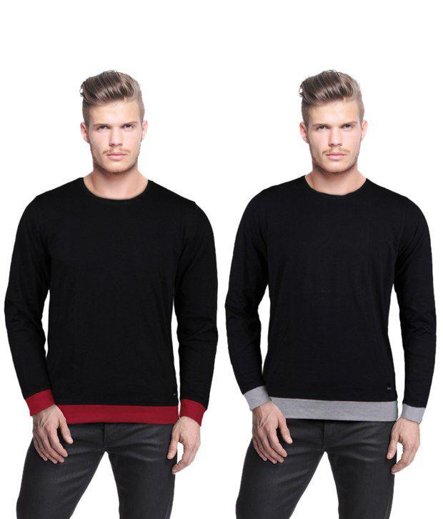 Rigo Pack Of 2 Black T Shirts