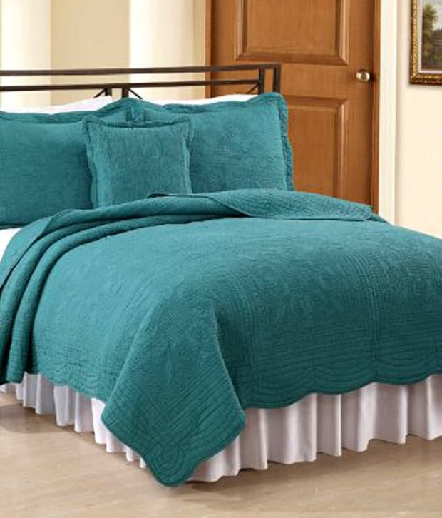 American Traditions French Tile Quilt Teal Twin Buy