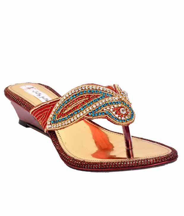 Jolly Jolla Sparkling Red Slip-on Heels