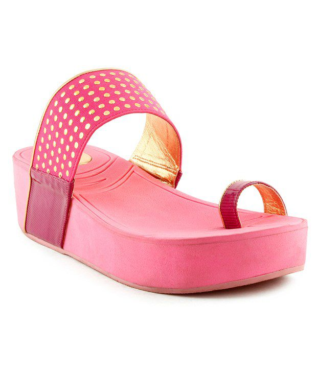 Kielz Amazing Pink Slip-on Heels