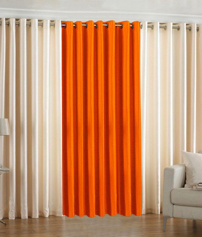 Window Eyelet Curtains - Buy PINDIA Set of 3 Window Eyelet Curtains ...