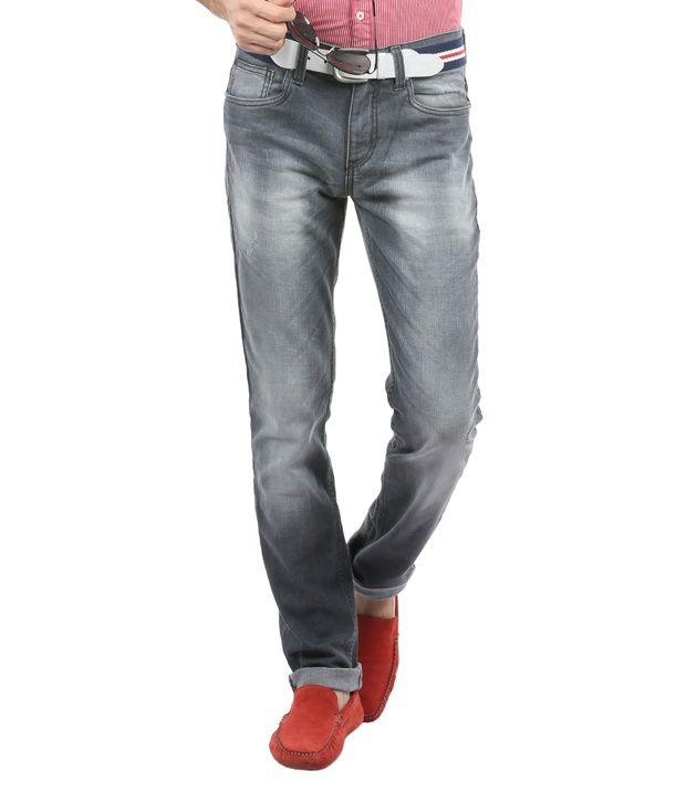 Blumerq Gray Faded Jeans