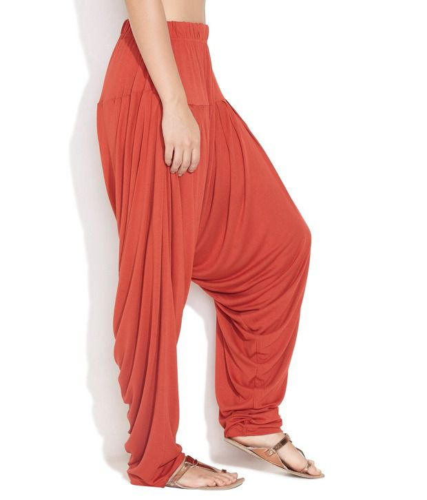 303be30a689200 GO COLORS Red Cotton Patiala Salwar GO COLORS Red Cotton Patiala Salwar