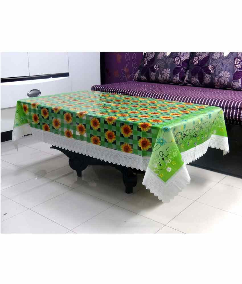 Katwa Clasic Amazing 40 inchesX 60 inches Clear Printed With Lace Tablecloth (Buy1 Get1)