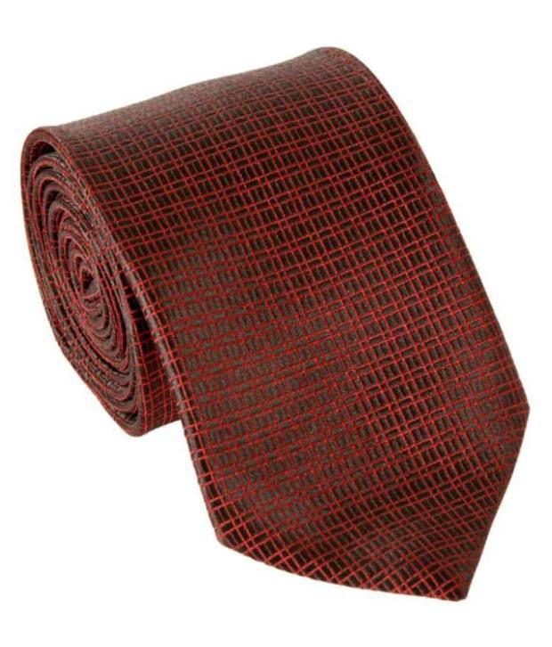 Milano X'Xssories With Red Square Pattern Necktie