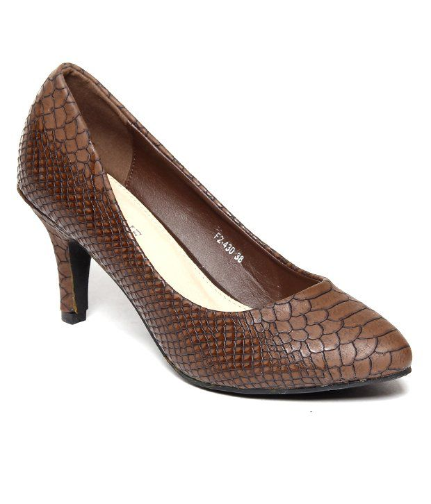 Urbane Stunning Brown Pencil Heels Ballerinas