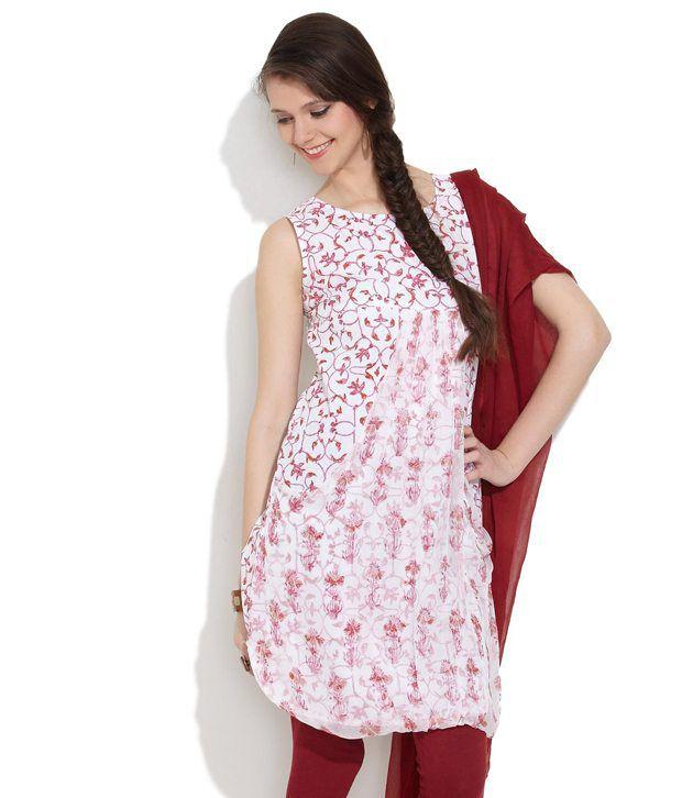 ALMA Pink Printed Cotton Kurti