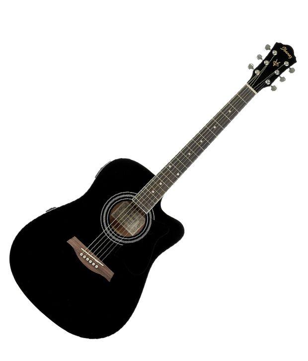 ibanez v72ece acoustic guitar black buy ibanez v72ece acoustic guitar black online at best. Black Bedroom Furniture Sets. Home Design Ideas