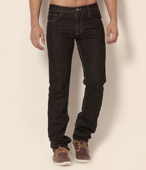 Newport Dark Brown Slim Fit Basics Jeans